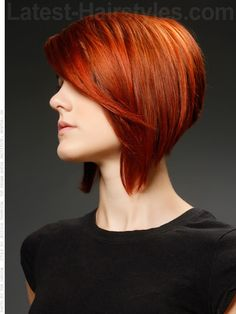 Steep Dramatic A-Line Shiny Red Style