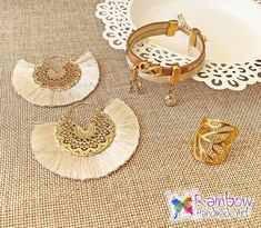 Handmade jewelry and more! Handmade Bracelets, Handmade Jewelry, Handmade Art, Straw Bag, Rainbow, Earrings, Bags, Rain Bow, Ear Rings
