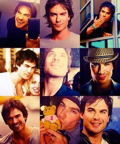 The many faces of Ian Somerhalder.