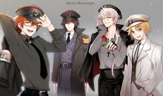 I'm sinking deep into this fandom Mystic Messenger Jumin, Yoosung Kim, Luciel Choi, Messenger Games, K Wallpaper, Jumin Han, Saeran, Illustrations, Anime Guys