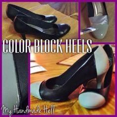 My Handmade Hell: Color Block Heels Refashion