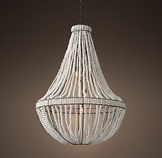 Foyer.... RH's Clay Bead Empire Chandelier - Ivory