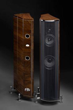 Audio Design, Speaker Design, Hifi Audio, Audio Speakers, At Home Movie Theater, Speaker Stands, Piece Of Music, Built In Speakers, Sleep
