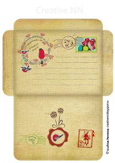 Скрапбукинг конверты винтажные новогодние в русском стиле. Free Printable Stationery, Printable Frames, Printable Letters, Printable Paper, Pocket Envelopes, Paper Envelopes, Paper Box Template, Diy Envelope, Paper Crafts Origami