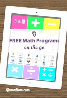 9 Free math websites that offer daily free math drills and math lessons for kids - access from computers or mobile devices