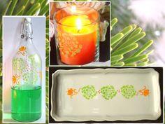Peinture porcelaine et verre : Réalisez en un clin d'oeil un ensemble de décorations sur verre et porcelaine en utilisant la peinture Martha Stewart. il s'agit d'une peinture pour tous supports y compris le verre et la porcelaine.