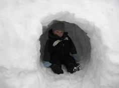 Making snow forts and playing in them if they didn't collapse first!