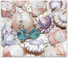 Sea Glass Wire Wrapped Earrings from NorthShore Days - Happy Hour Projects