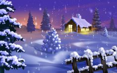 Bajkowy zimowy krajobraz