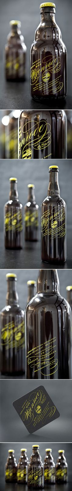 Nijenrode Bier - Designed by Redthumb *** A hand-crafted beer brewed in small batches in The Netherlands, Nijenrode is a much loved local secret amongst graduates from the Nijenrode University. *** #package #beer #label