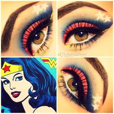 Wonder Woman inspired makeup!! :)