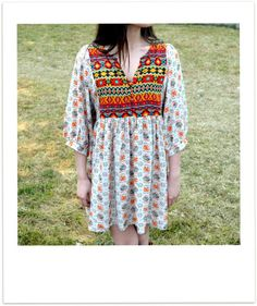Perfect for spring!!  Tribal Twist Tunic Dress – StitchBeehttp://stitchbee.com/collections/new-arrivals/products/tribal-twist-tunic-dress