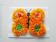 Butterfly Crafts: Make a Puffy Tissue Paper Butterfly from CraftsbyAmanda.com @Amanda Formaro