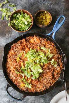 Cheeseburger Quinoa Bake from The Dude Diet cookbook. This whole grain casserole is the most responsible (and super delicious) way to get your cheeseburger fix! #dudedietbook