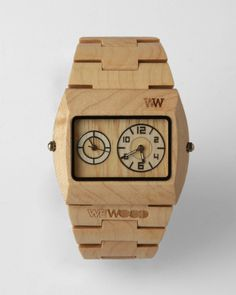 A wooden watch- this is pretty cool. Paint it, strip it, carve it- very versitile appearance.