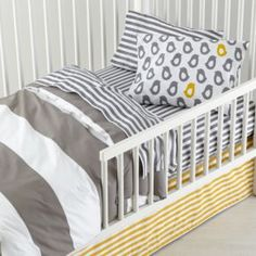 The Land of Nod | New School Toddler Bedding (Not a Peep) in Toddler Bedding