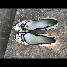 """Brand New Nine West Polka Dot Pumps Multi-color Nine West polka dot heels, size 9 has never been worn."""" Nine West Shoes Heels"""