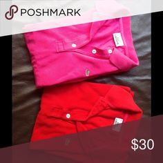 Lacoste 2 polo shirts bundle size S Offers discount for 2, please see the individual listings for details Lacoste Tops
