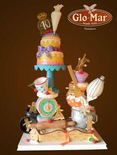 pastel de 40 aniversario