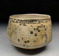 Stoneware Matcha Chawan Teabowl Tea Ceremony Glazed with Carbon Trap Shino   Michael Coffee   Shyrabbit