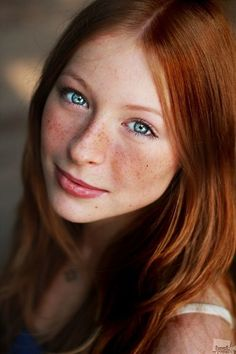 Ginger redhead with gorgeous eyes.
