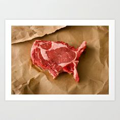 United Steaks of America Art Print by Dominic Episcopo - $25.00