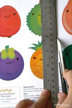 Cute fruit bookmark printables & more