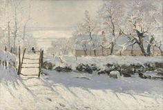 A magpie rests on a fence of a farm covered in a thick blanket of snow in this wintry landscape by Claude Monet. Art critics and patrons, used to more brilliant colors in what they saw, were flabbergasted by the pale colors used to evoke the quiet landscape, accentuated by light and shadow. Get this print for 20% off with the code VP20 when you buy at VintPrint.com!