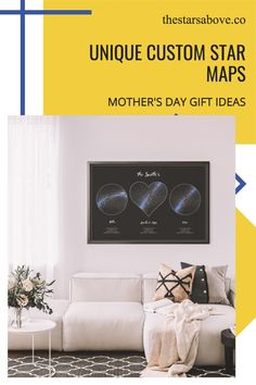 These are the perfect gifts to commemorate the most special occasions in your life. The birth of a child, a wedding or anniversary, or that first date that changed everything. Star Maps, Unique Maps, Sky Images, Unique Mothers Day Gifts, Birth, Personalized Gifts, Living Room Decor, Gifts For Her, Anniversary