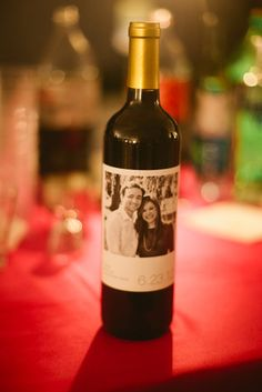 Custom wine label.  Photography by Magnolia Pair.