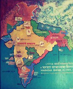 Map of the Maratha Empire in 1795 India World Map, India Map, Ancient Indian History, History Of India, Pune, Shivaji Maharaj Painting, Shivaji Maharaj Hd Wallpaper, Travel Map Pins, India Facts