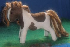 wool felt horse toy Waldorf animal pony soft plush girl boy children birthday wild west native american apache horse. $25.00, via Etsy.