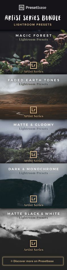 Discover the 'Artist Series' Lightroom Presets by Presetbase. Ideal for Landscape, Nature and Travel Photography. Transform your photos into matte, dreamy and moody images with only a few clicks.