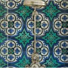 "Rustico Tile & Stone MeaLu Victorian Encaustic 8"" x 8"" Cement Field Tile & Reviews | Wayfair"
