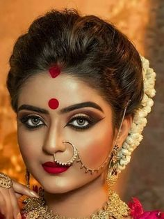 Beautiful Indian Brides, Beautiful Bride, Gorgeous Women, Bridal Make Up, Bridal Looks, Middle Eastern Makeup, Bridal Nose Ring, Pakistani Bridal Makeup, Indian Wedding Fashion