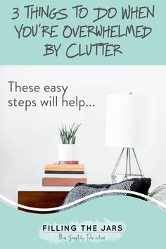 So… you know all those times when you WANT to declutter, but it's just too much to think about and actually start? Yeah... I've been there too. Here are my 3 easy tips for things you can do BEFORE you actually get rid of anything. #decluttering #organizing