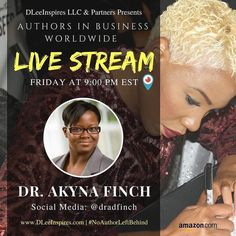 Doing my Friday topic at 9:22pm EST tonight on Periscope! Join me at @dradfinch