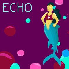 "Grace on Instagram: ""7.Echo #mermay2019 #mermaid #mermay #wacommermay2019 #fanartmermay #fanart #rescuesirens #sirens #echo #vectorillustration #digitalart"" Sirens, Disney Characters, Fictional Characters, Digital Art, Fanart, Mermaid, Disney Princess, Instagram, Mermaids"