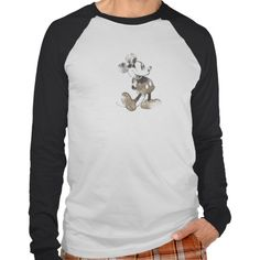 Mickey Mouse Vintage Washout Design T Shirt, Hoodie Sweatshirt