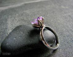 Natural Stone Jewelry Raw Amethyst Ring Valentines by Gemologies