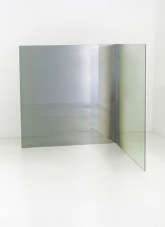 heathwest:  Larry BellUntitled, 1972Two plate glass panels coated with Inconel693/4 x 671/4 x 691/4 in.