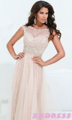 Pink, sparkly, floor length prom dress