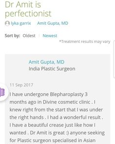 When we receive such a review it just makes our week . Trust us we are good at #asianblepharoplasty or #doubleeyelid surgery  #testimonial #patientreview #happypatient