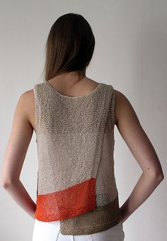 Ravelry: Maja - Gima pattern by Marita Rolin knit in Habu Cotton Gima maja - gima knitting pattern by marita rolin. reversable a-line, asymmetric hem, sleeveless top knit with habu textiles cotton gima. Pattern is written in British english. Summer Knitting, Hand Knitting, Knitting Designs, Knitting Projects, Modelos Fashion, How To Purl Knit, Knit Fashion, Pulls, Knitwear