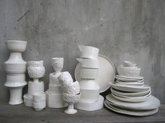 paulagreif:  white pottery made for my kitchen 2011
