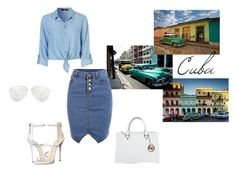 """""""=> Cuba"""" by zsugabubus ❤ liked on Polyvore featuring TAXI, Giuseppe Zanotti, Michael Kors and Victoria Beckham"""