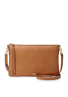 Fossil® Sydney Top Zip Crossbody - Sydney's impeccable designs and luxe materials confirm her leading lady status for the season! Never-fail neutrals of rich leather give this classic top zip a refined update.