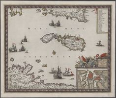 "Oct 6, We are returning to the Glen McLaughlin's collection of maps of Malta at Stanford University for this week's #MaltaMapMonday. Today's map depicts the ""Maltese archipelago and North African and Sicilian littoral, with key. Vignettes of multiple sea battles near the coasts of Sicily, Tripoli and Tunis. Insert of Valletta with fortifications. Probably from de Wit's Atlas Major."" Frederik de Wit, ""Insula Malta accuratissime Delineata, Urbibus, et Fortalitiis,"" Amsterdam: 1689."