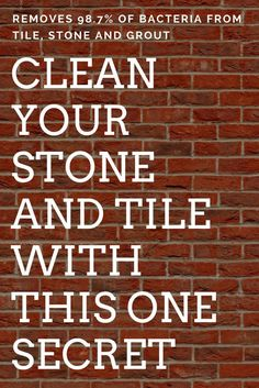 Clean stone work and tile #cleaningtips