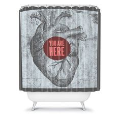 DENY Designs Wesley Bird You Are Here Shower Curtain - 13536-SHOCUR